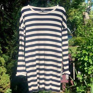 Topshop striped sweater dress, size 10